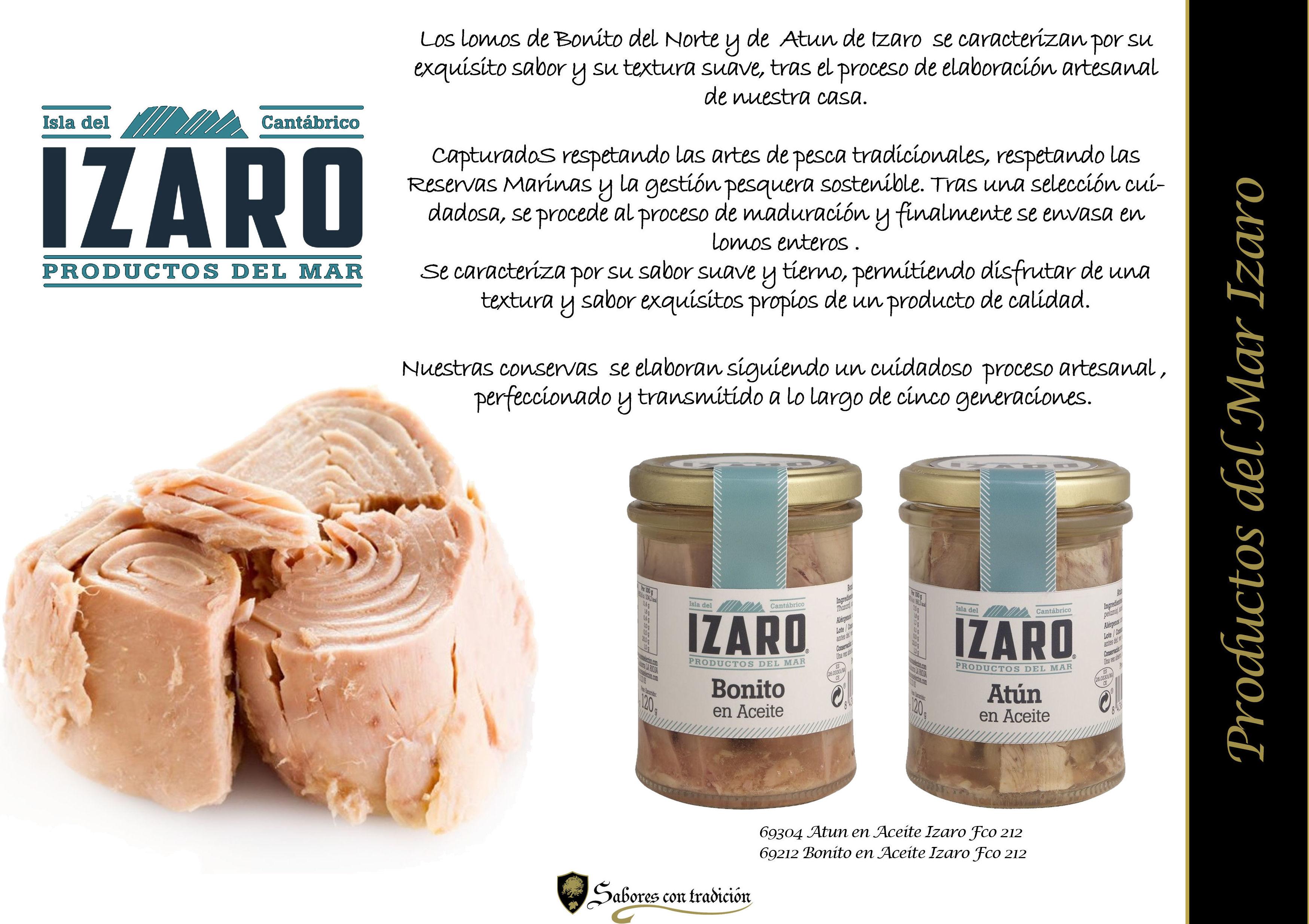 """Productos de Mar """" Izaro """": Productos de Sabores con tradición"""