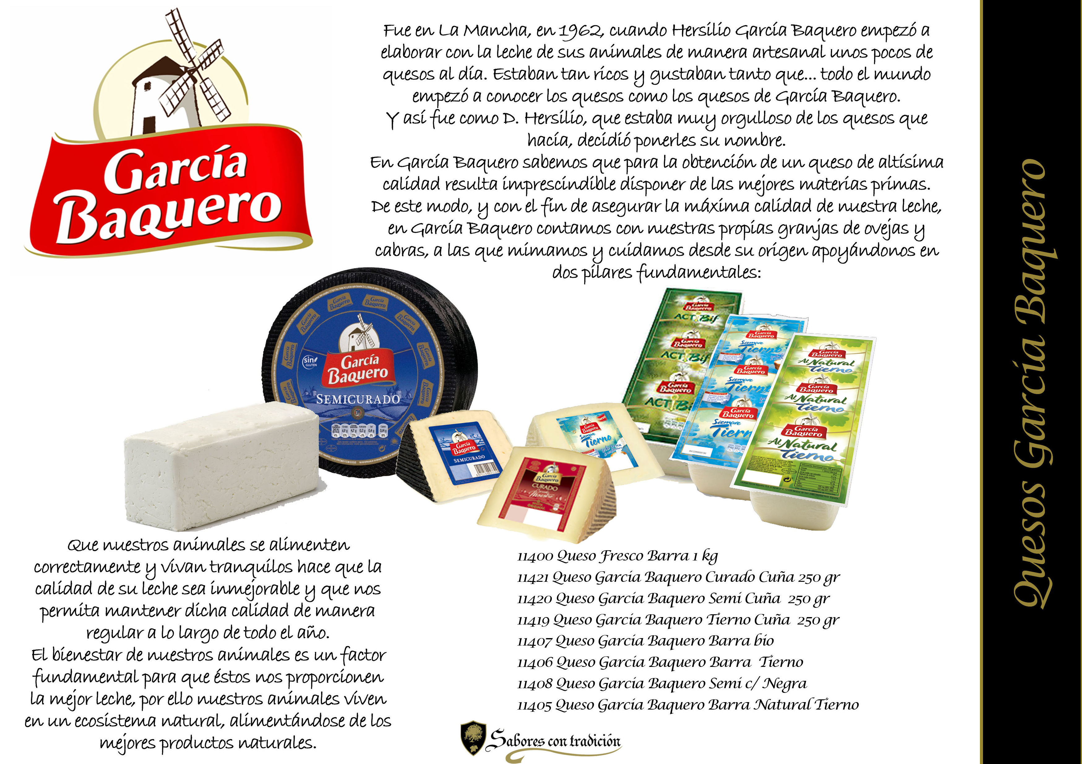 "Quesos "" Garcia Baquero """