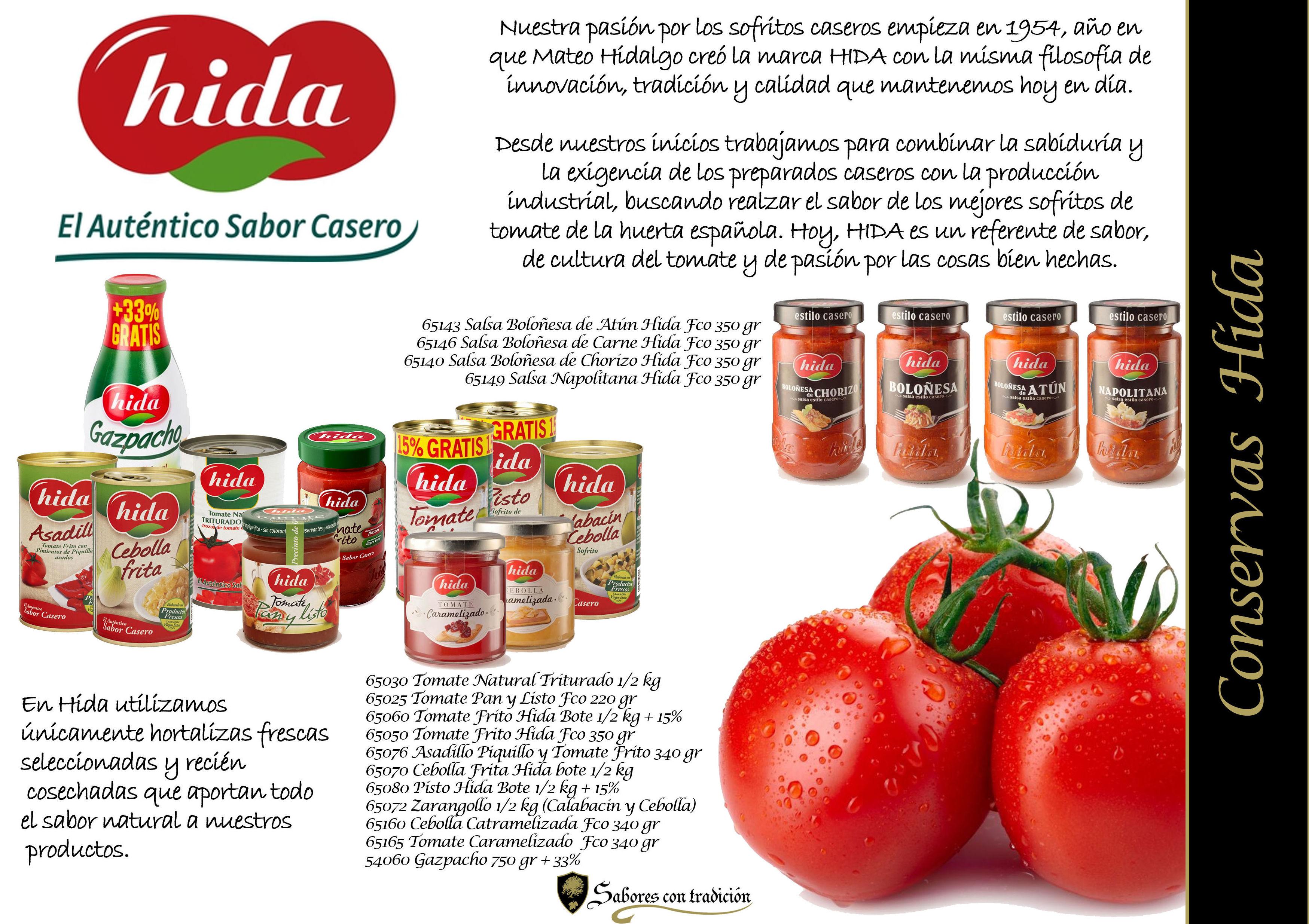 """Conservas """" Hida """": Productos de Sabores con tradición"""