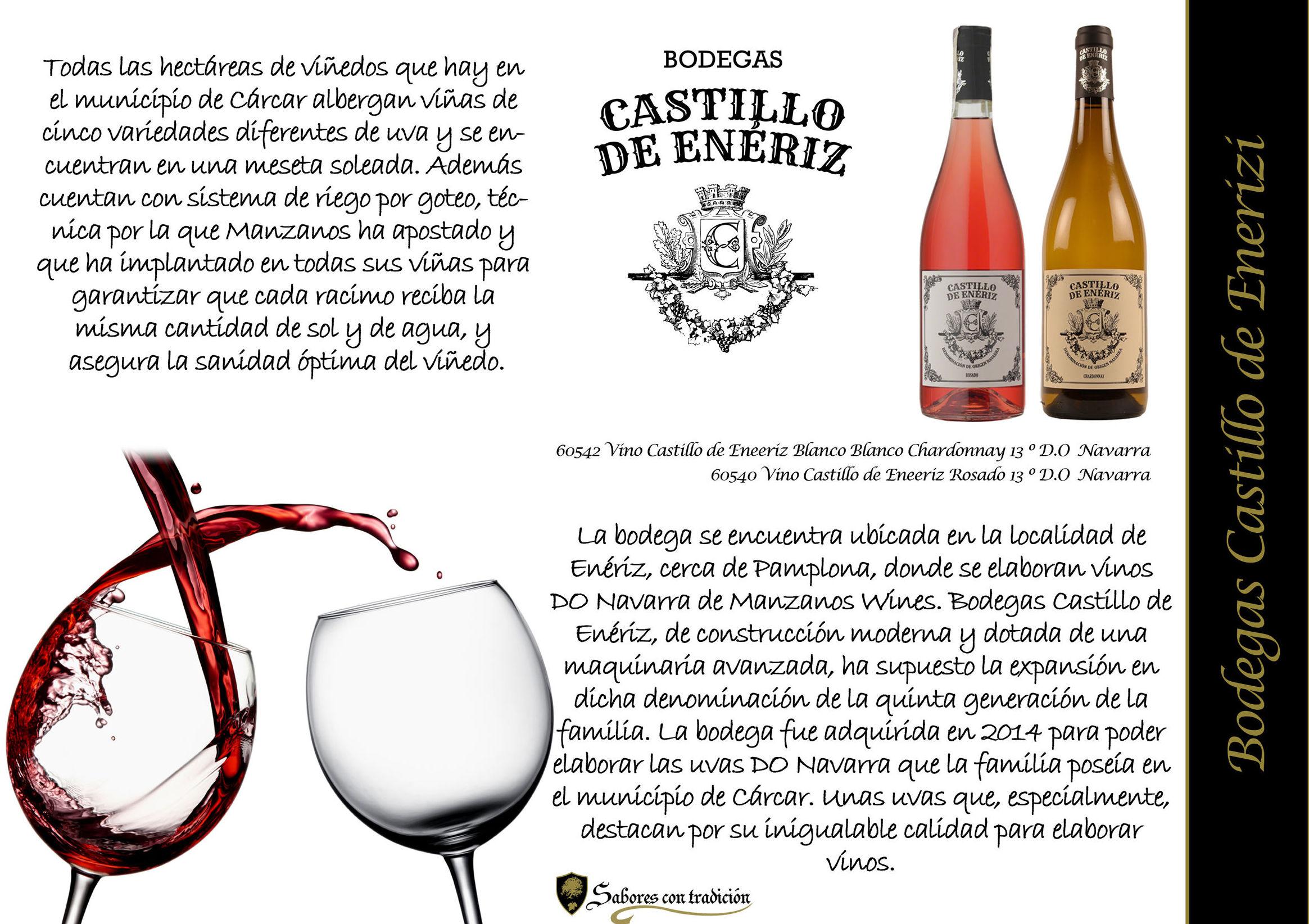 """Vinos """" Bodegas Castilllo de Eneriz """": Productos de Sabores con tradición"""