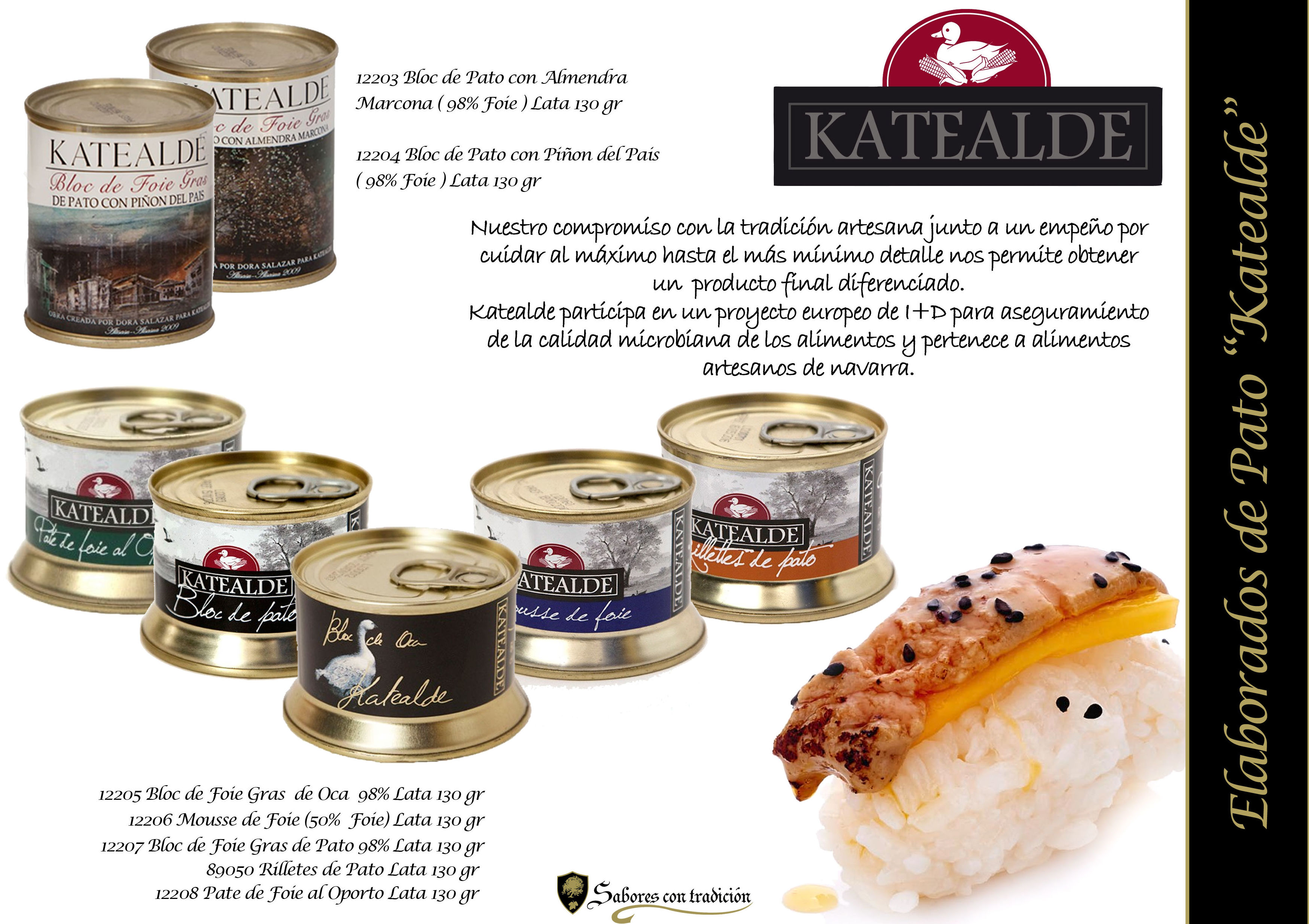 "Pates "" Elaborados Katealde "": Productos de Sabores con tradición"