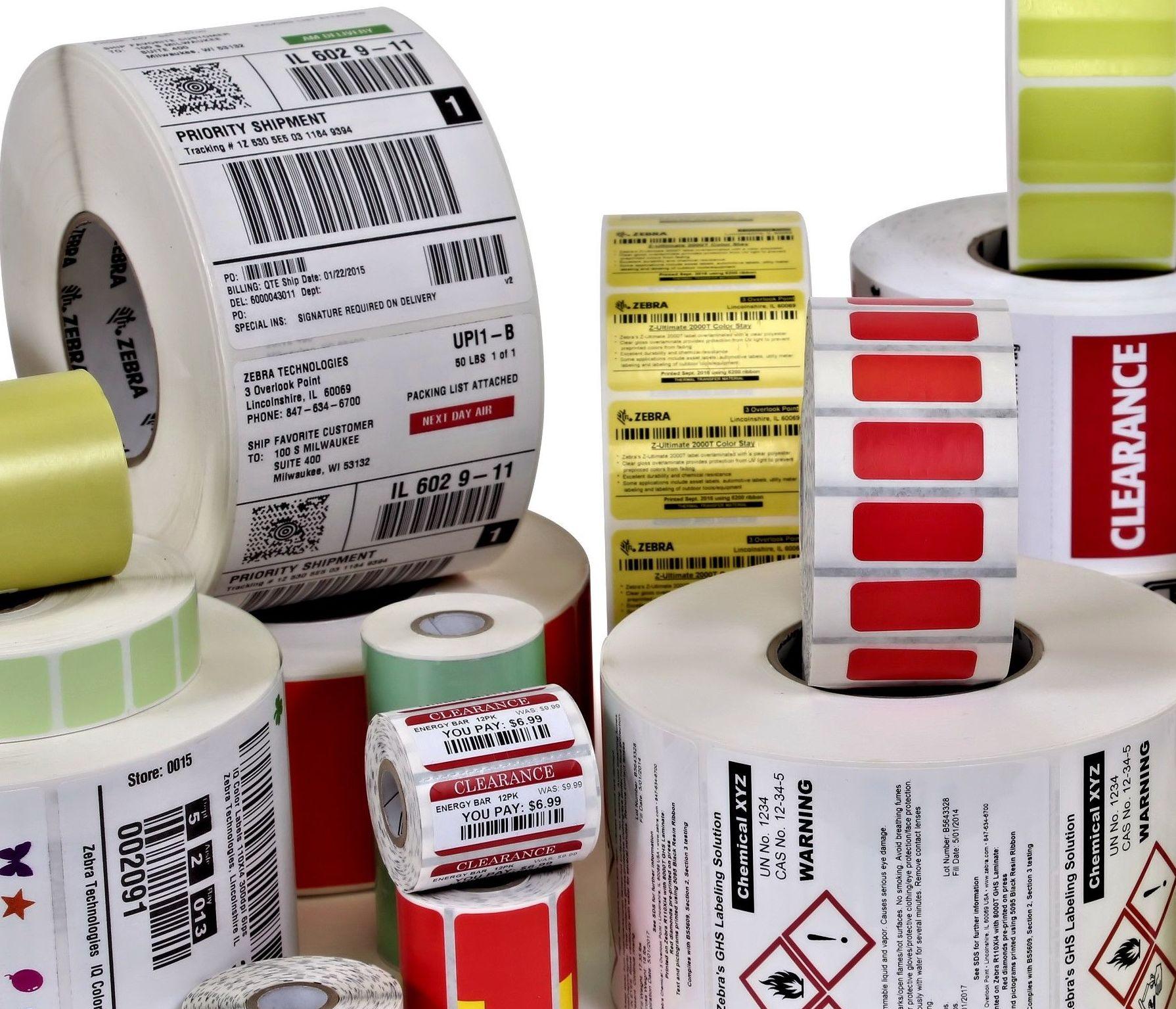Etiquetas Térmicas Adhesivas y Textiles: Productos y Servicios de  S T G L O B A L