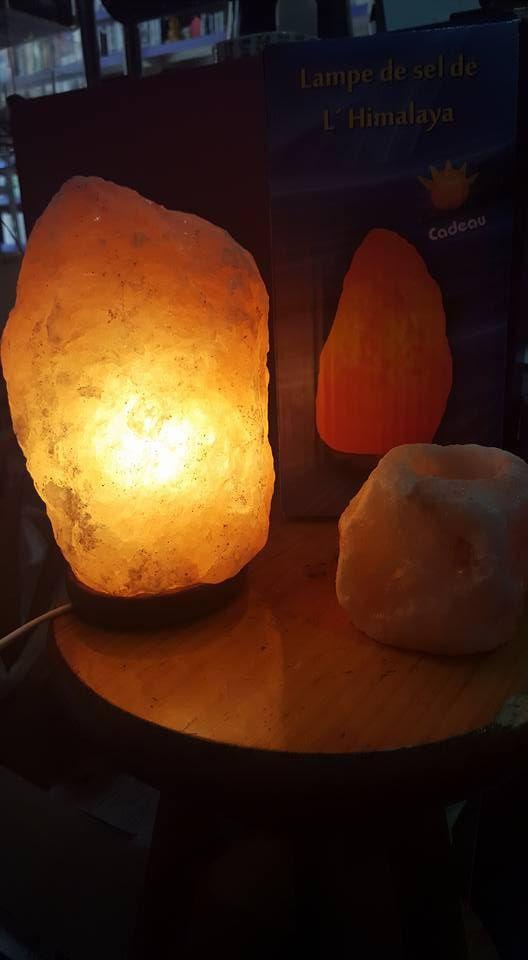 Lámparas de sal y portavelas