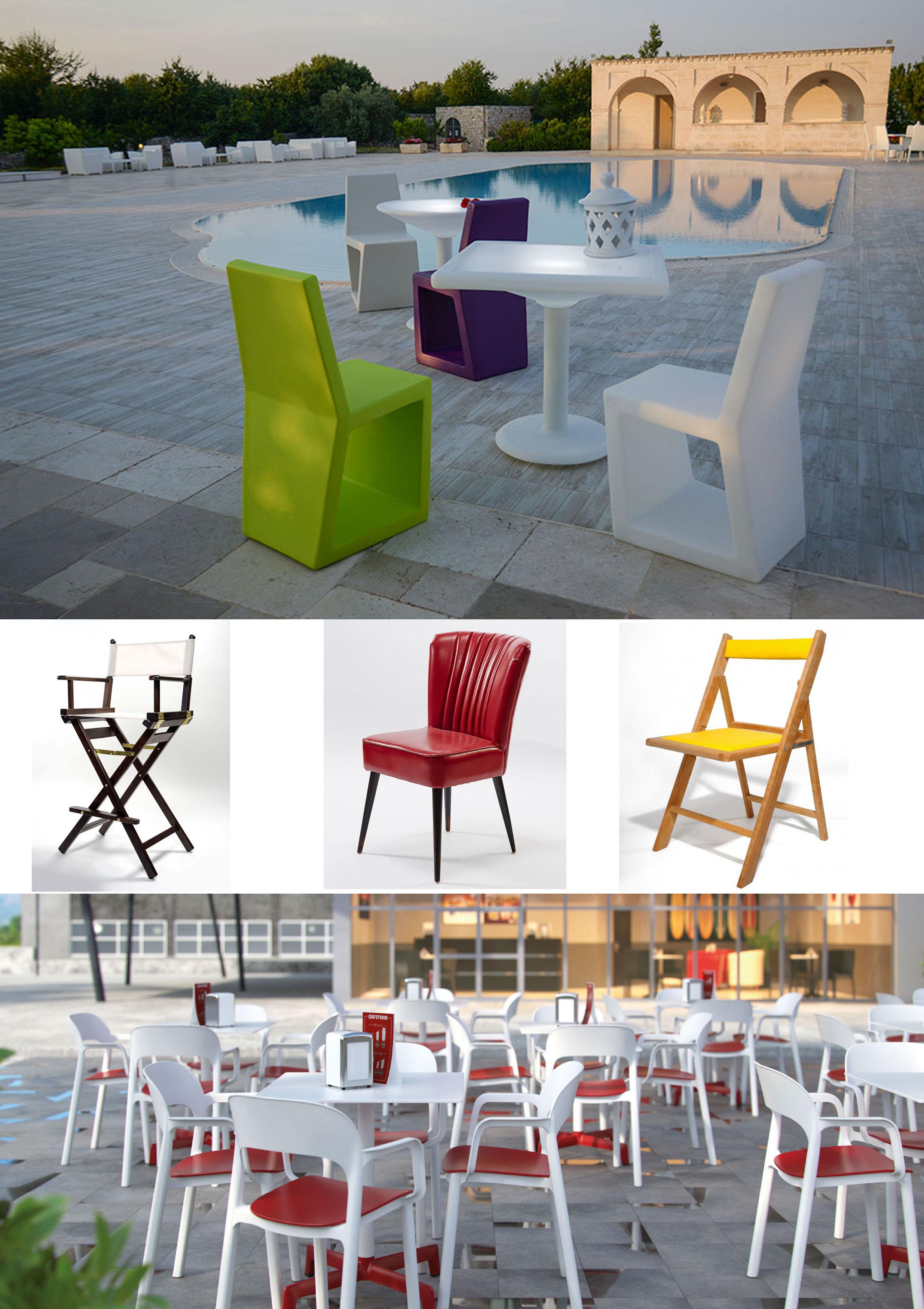 Venta de sillas y mesas en Zaragoza.