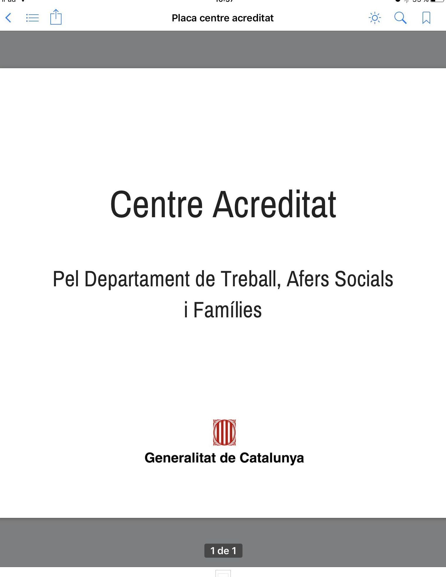 Ya estamos acreditados por la Generalitat de Catalunya