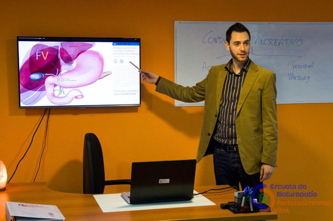 Formación: se puede apreciar nuestro programa de anatomía en 3 D