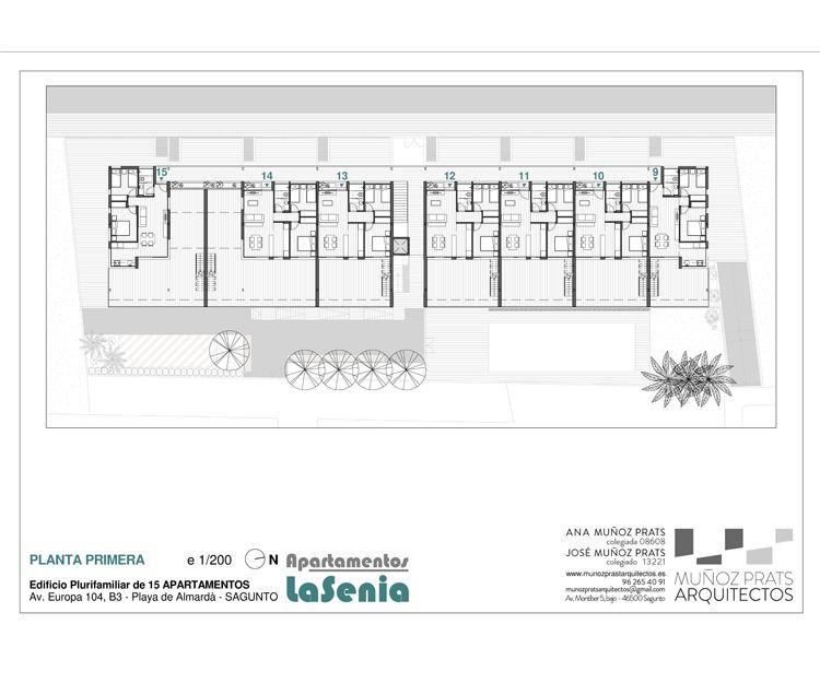 Planta primera de nuestros apartamentos en Sagunto, Valencia