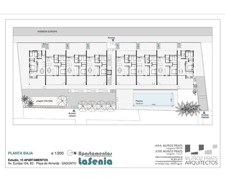Planta baja de nuestros apartamentos en Sagunto, Valencia