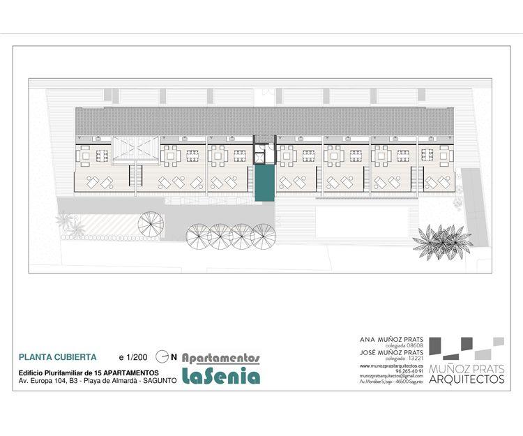 Planta cubierta de nuestros apartamentos en Sagunto, Valencia