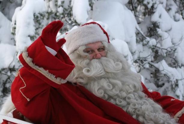 ¡Santa Claus viene de visita!
