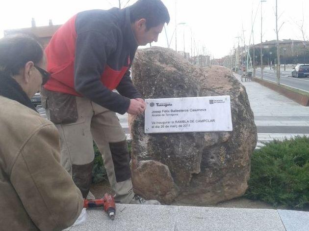 Placa en piedra