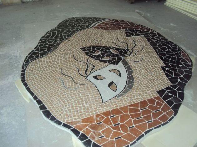 Mosaico en diferentes colores