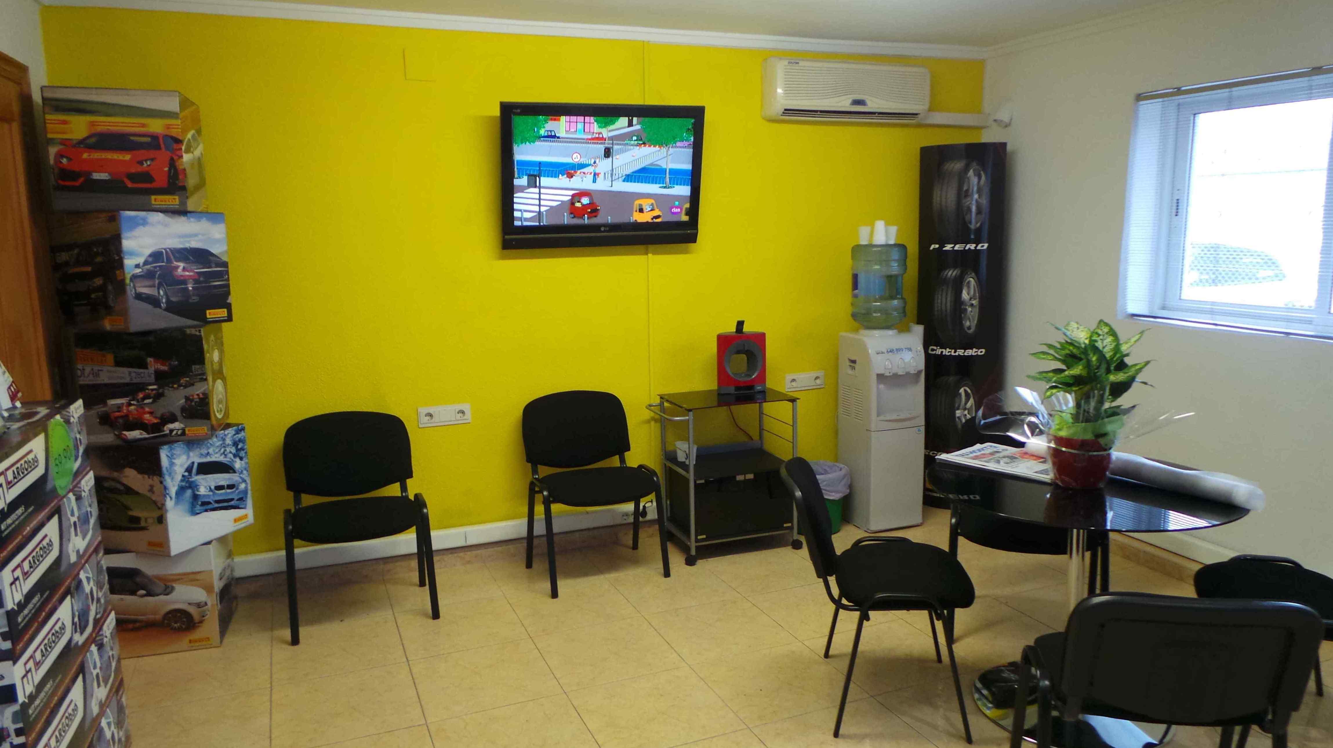 Sala de espera del taller
