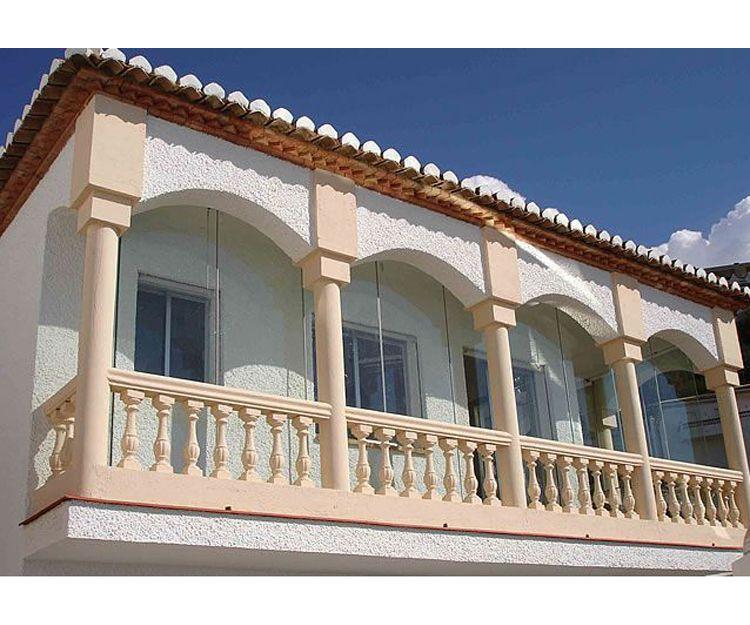 Balcones aislados y protegidos en Málaga