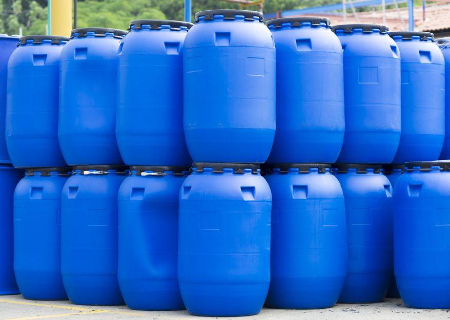 Envases de plástico para la industria química