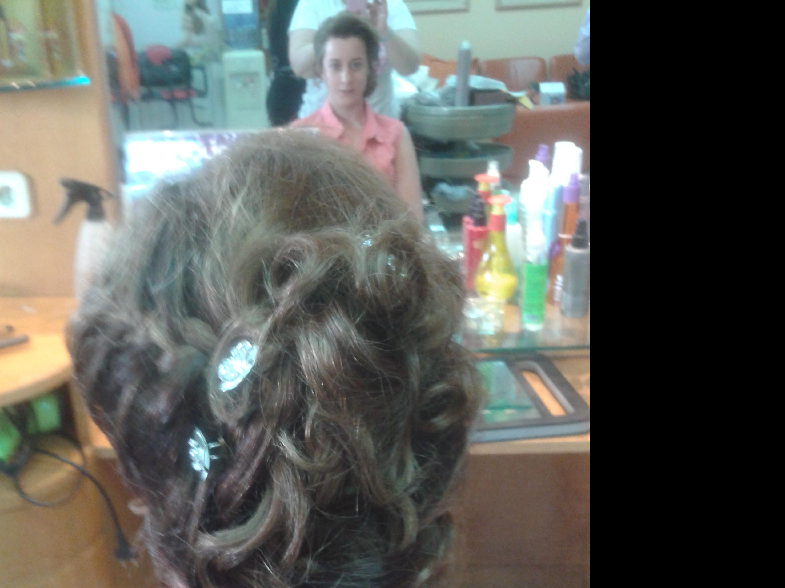 Pruebas para peinado de novia
