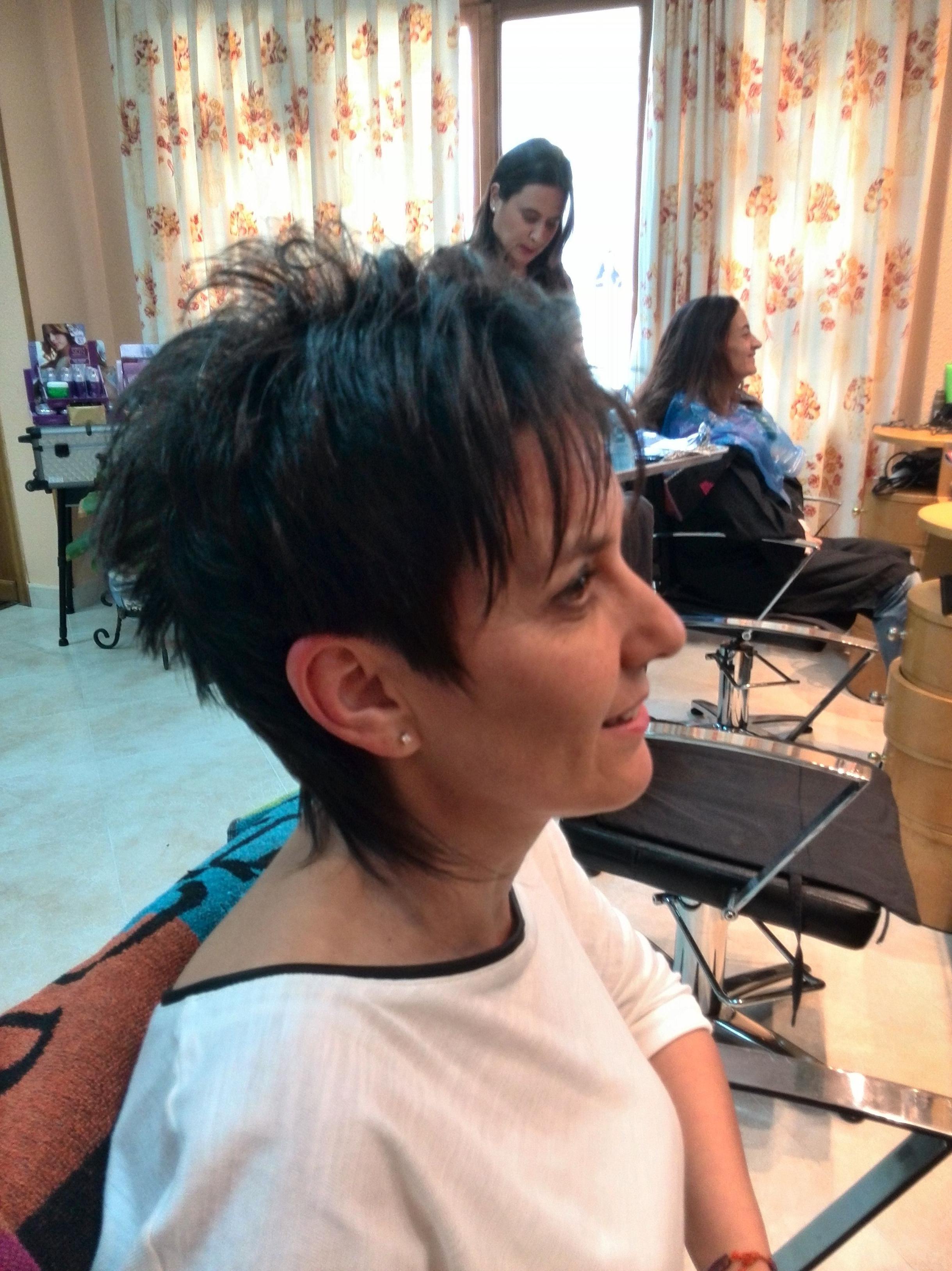 Corte de pelo según la cliente