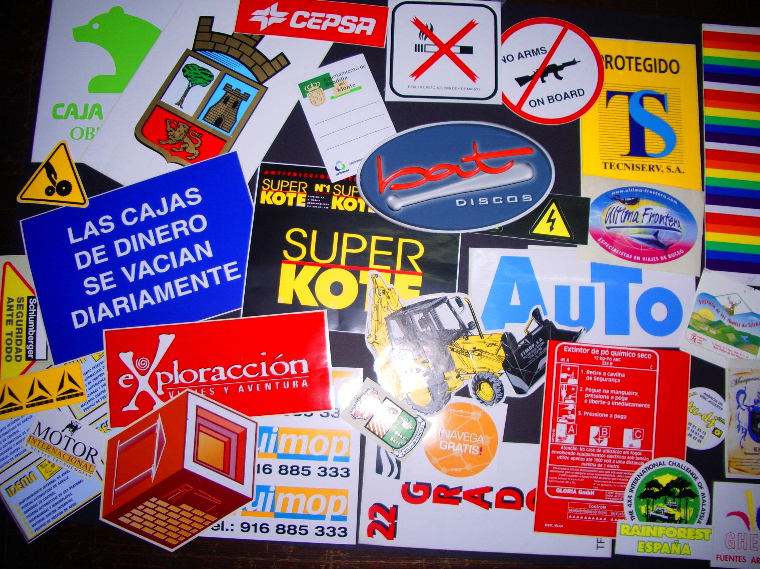Adhesivos: Catálogo de Arteser Serigrafía