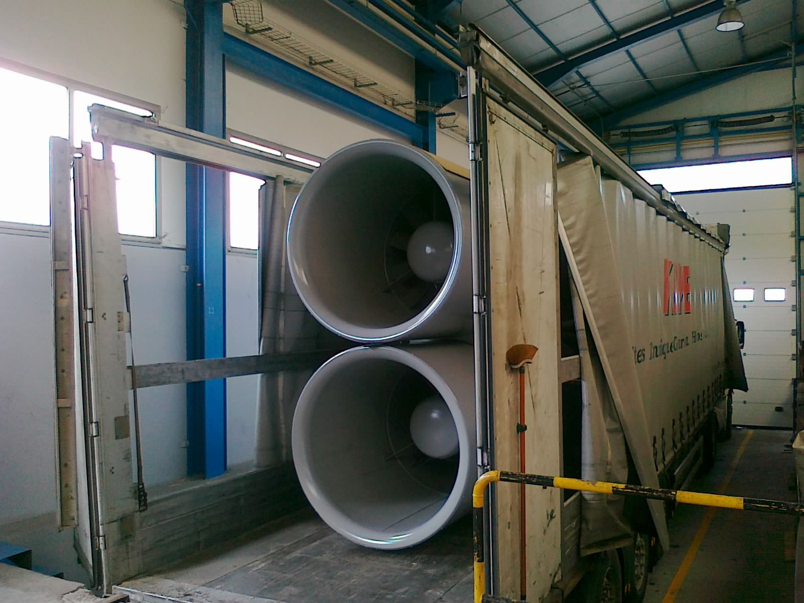 Transporte sistemas ventilación