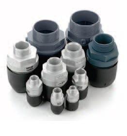 Conectores roscados macho de aluminio (rosca BSPT)