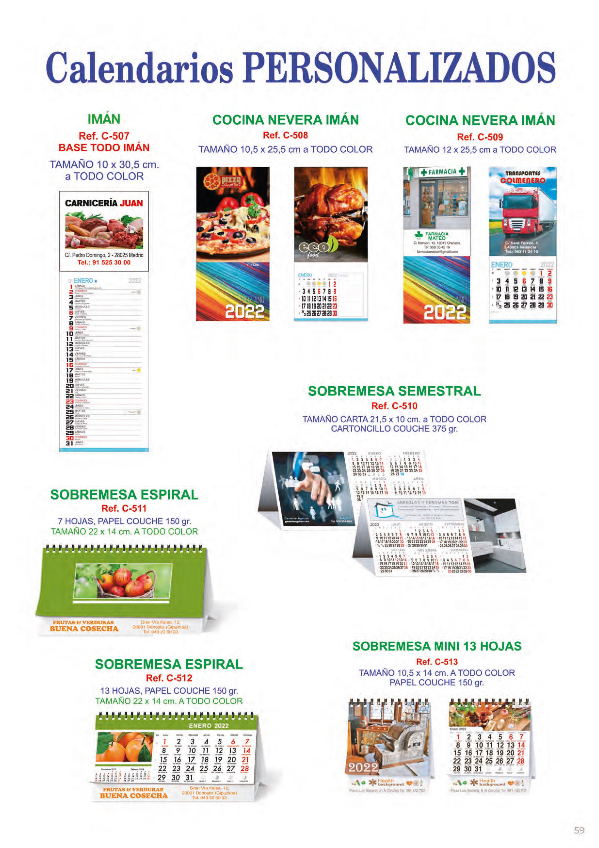 Foto 326 de Calendarios en Madrid | Gráficas Kalendex