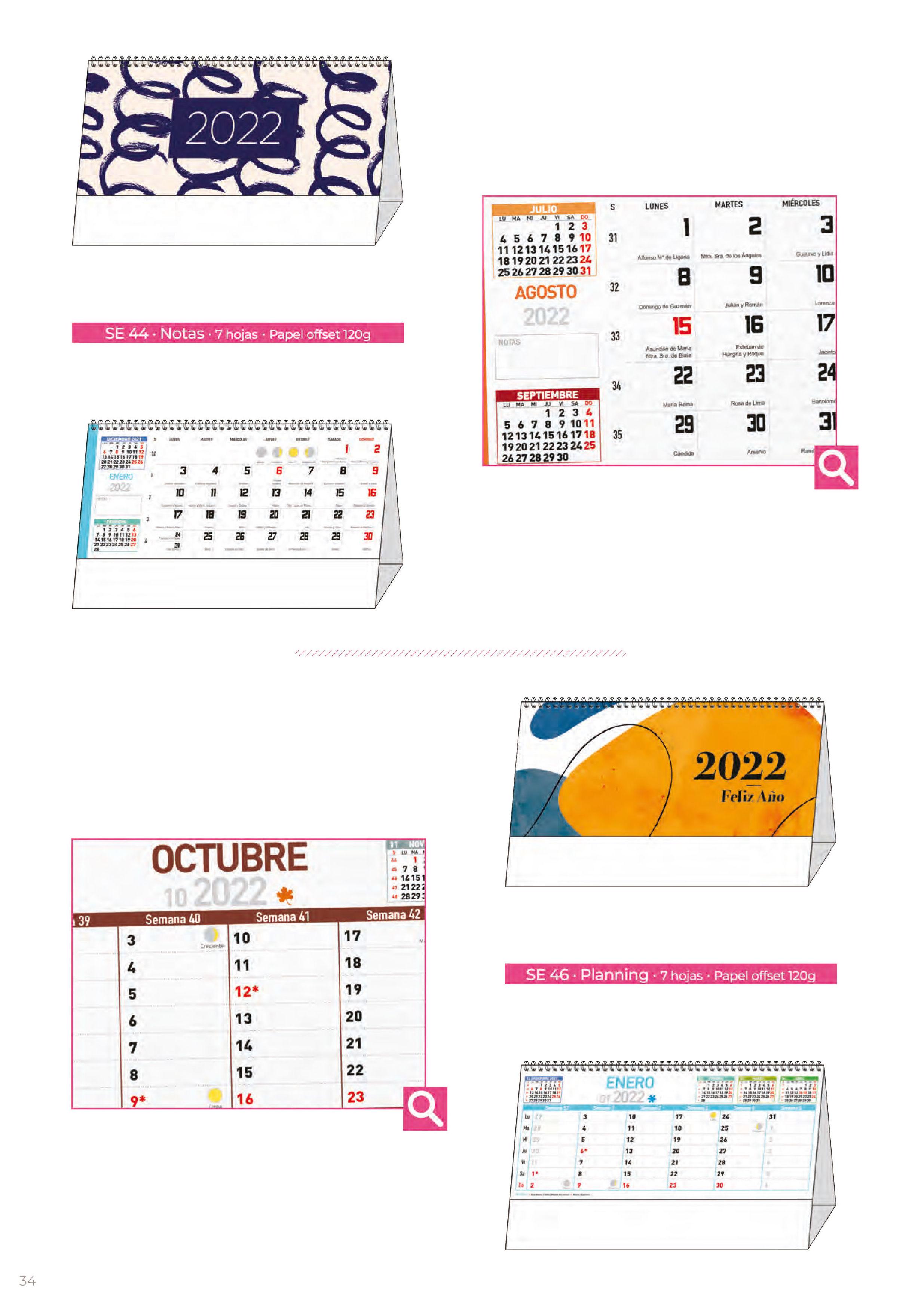 Foto 301 de Calendarios en Madrid | Gráficas Kalendex