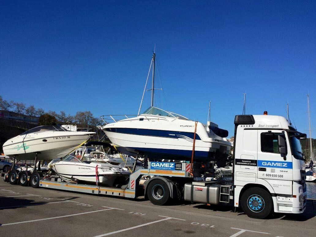 Transporte de embarcaciones de todas las esloras por carretera