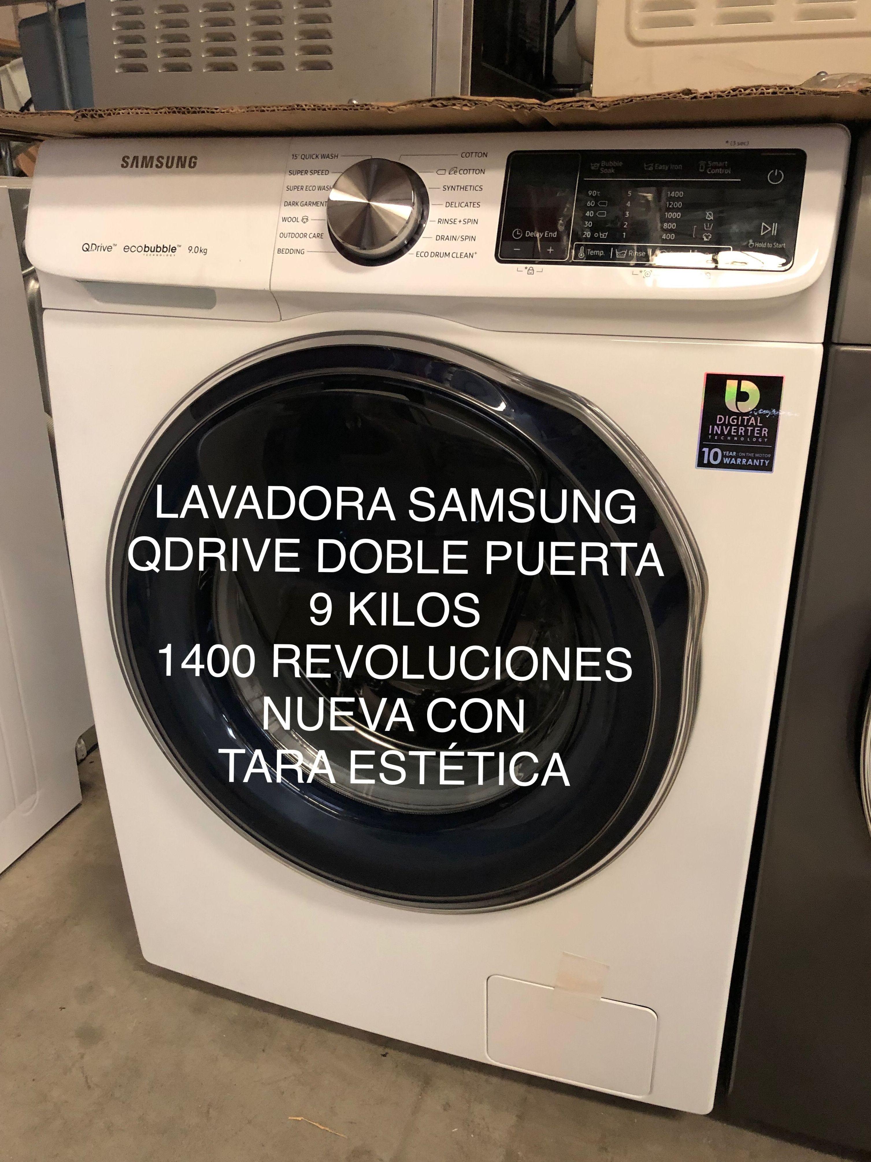 Lavadora samsung Qdrive nueva con tara estética electrodomésticos con tara en leganes