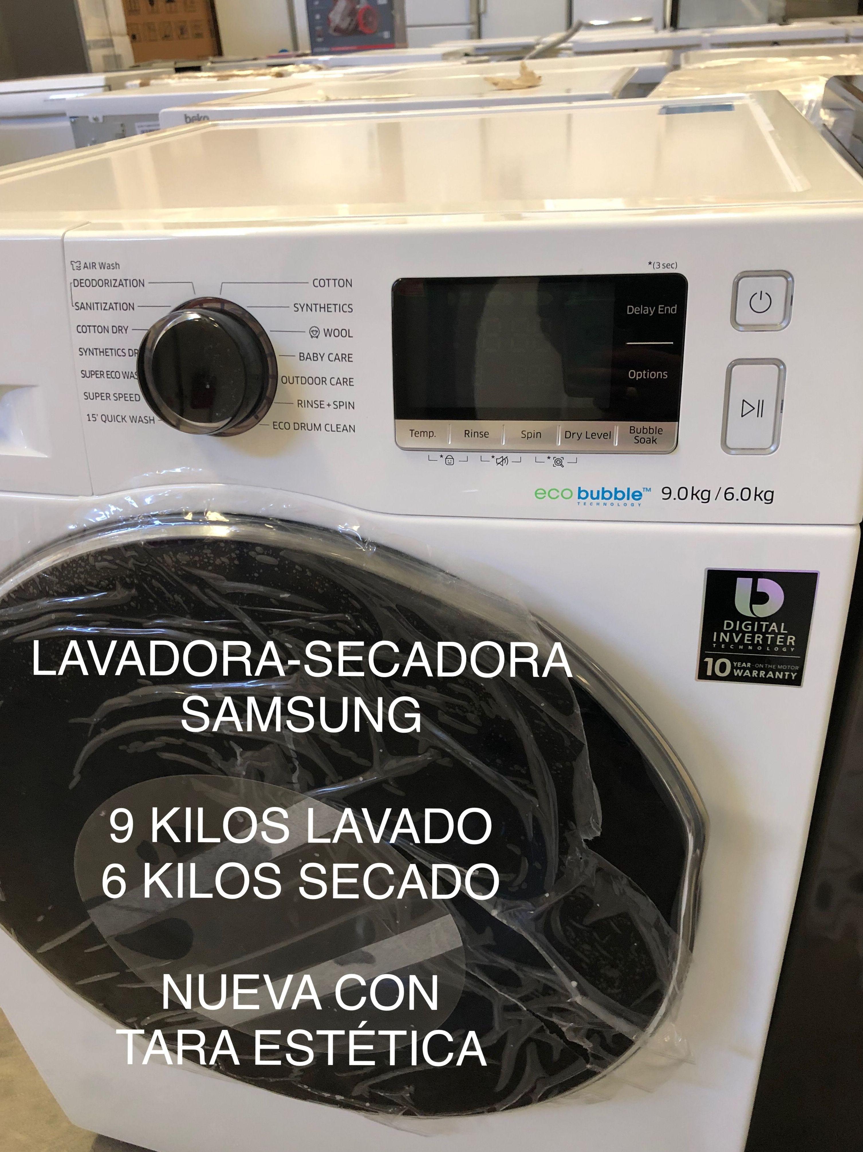 Lavadora secadora samsung electrodomésticos de tara samsung