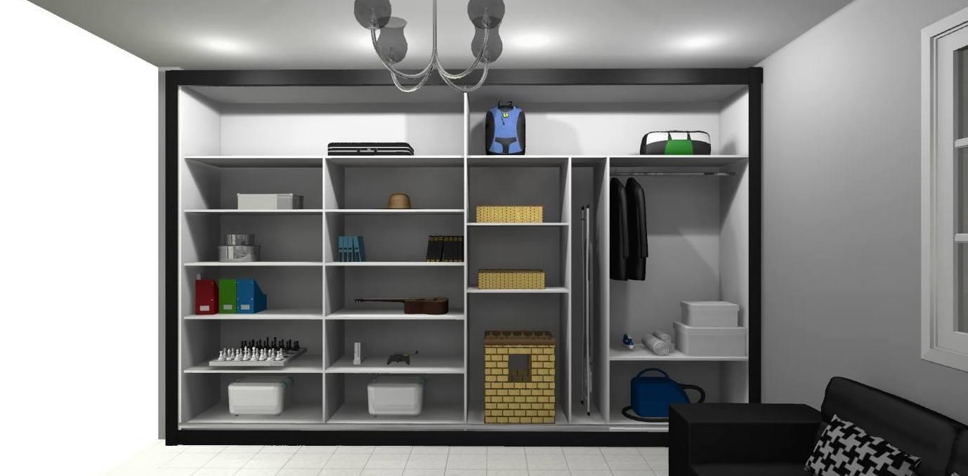 Diseño de interiores de armario