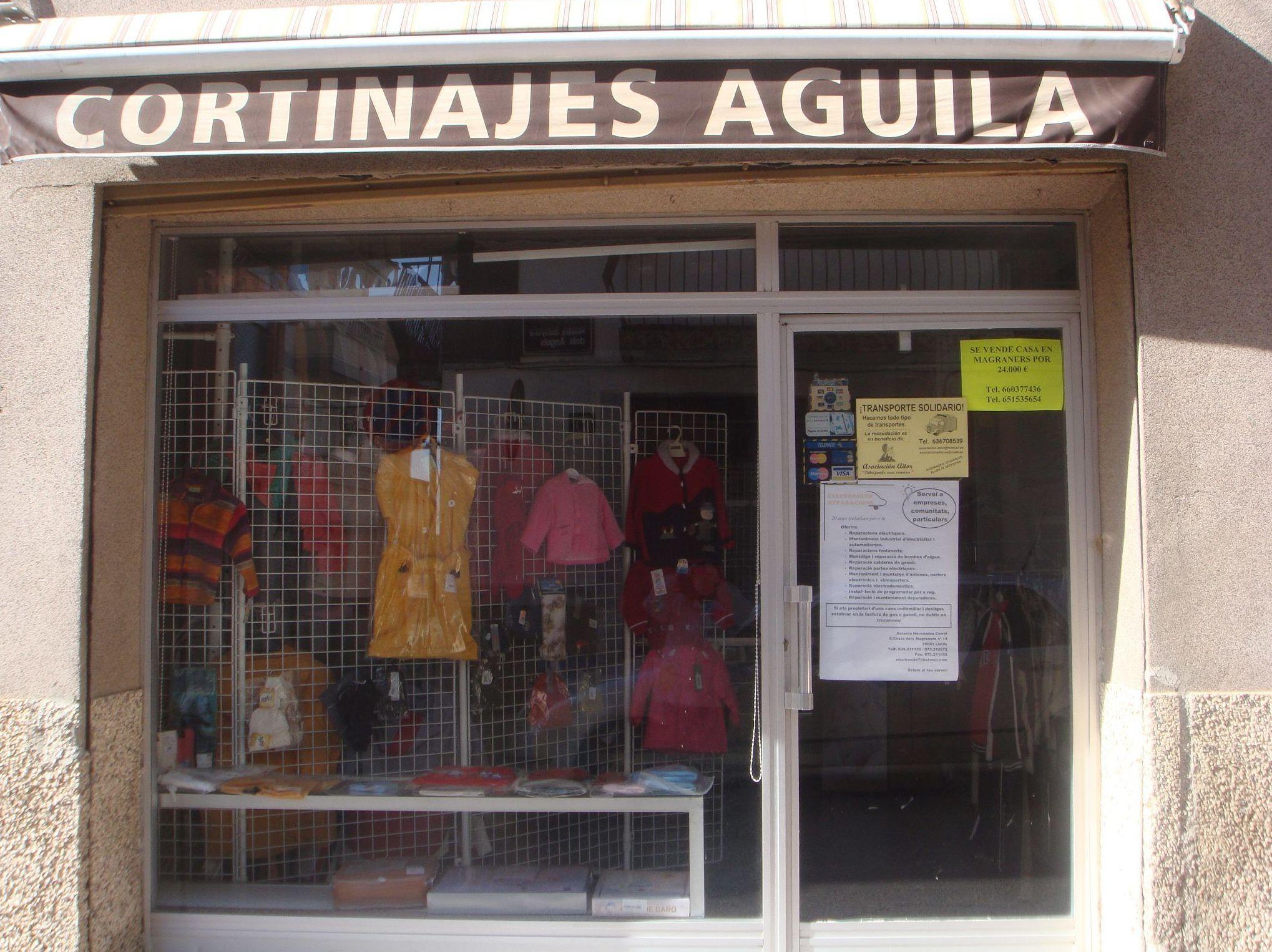 Fachada de Cortinajes Águila en Lleida