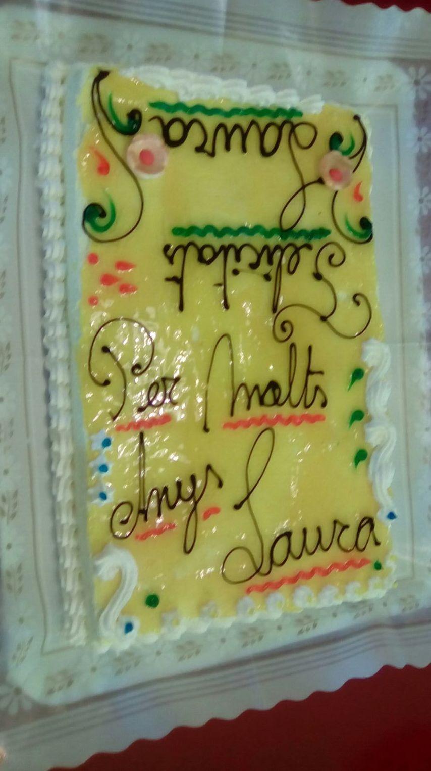 Tarta personalizada para felicitación de cumpleaños