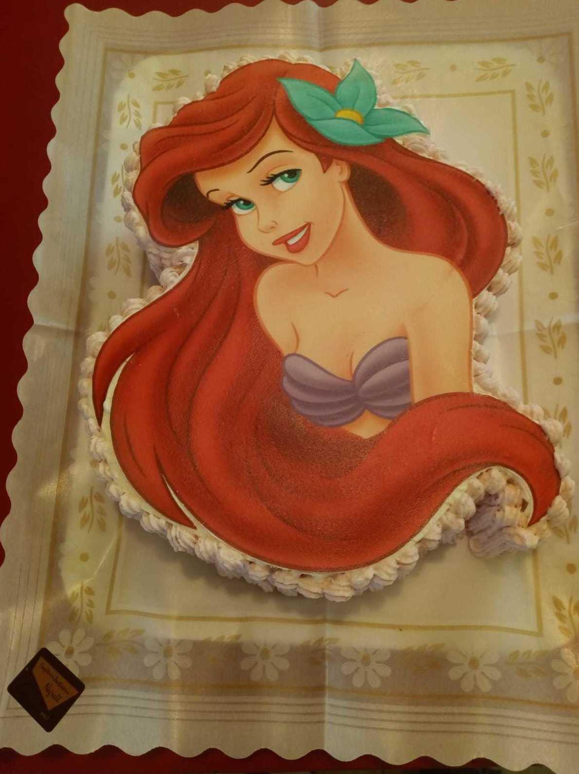 Tarta de la Sirenita. Tartas infantiles personalizadas con sus personajes favoritos