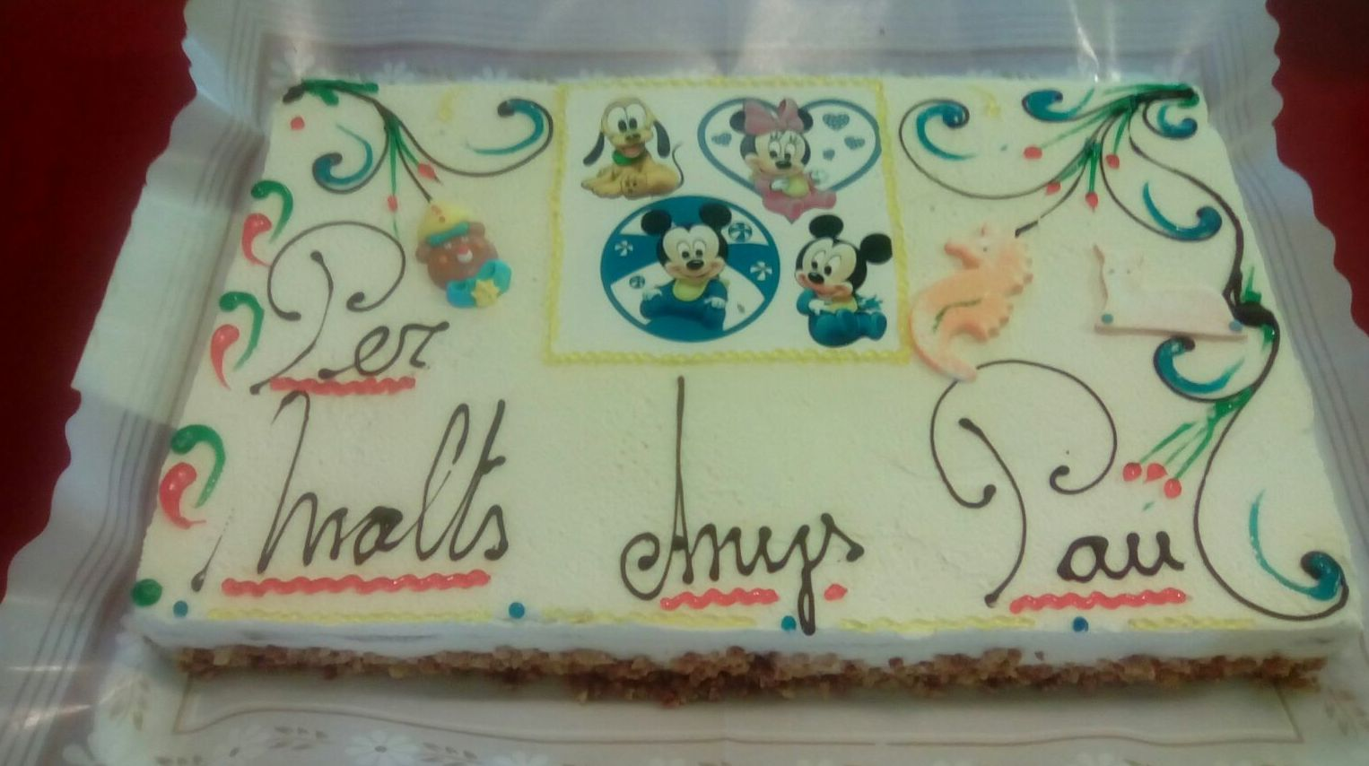 Tarta infantil de cumpleaños