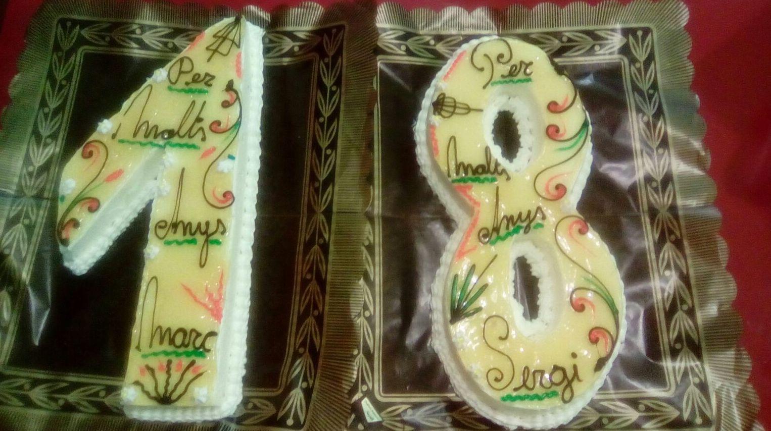 tartas de felicitación de cumpleaños personalizada