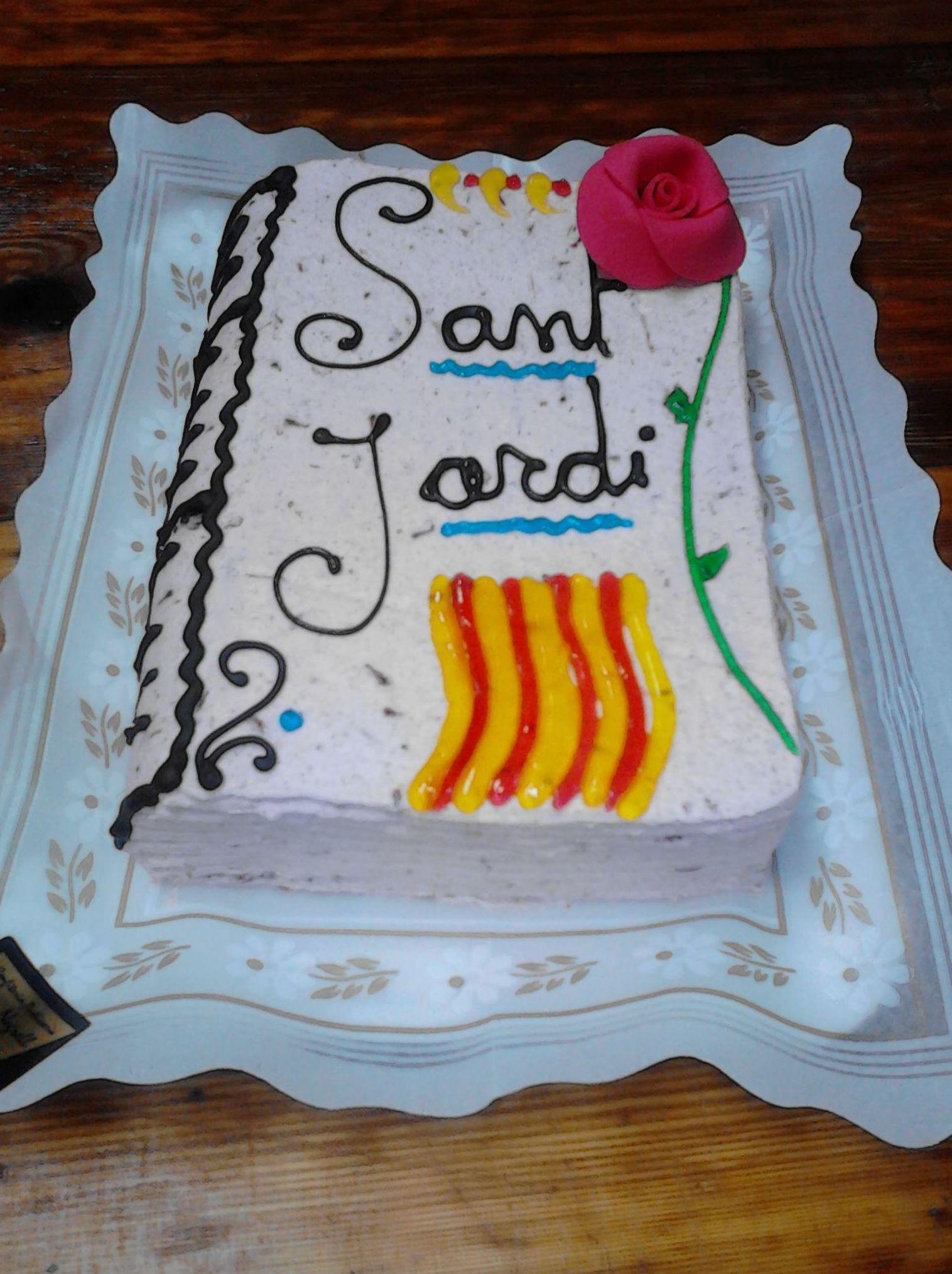 Pastís Llibre Sant Jordi Salt