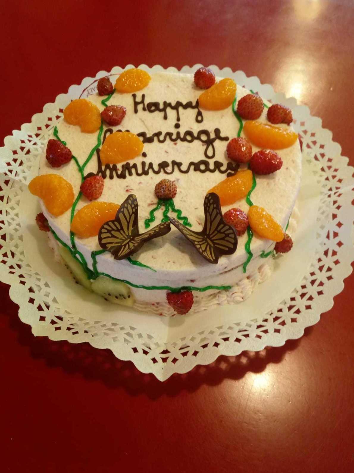 Tarta para aniversario de bodas. Dulces recuerdos en una tarta riquísima