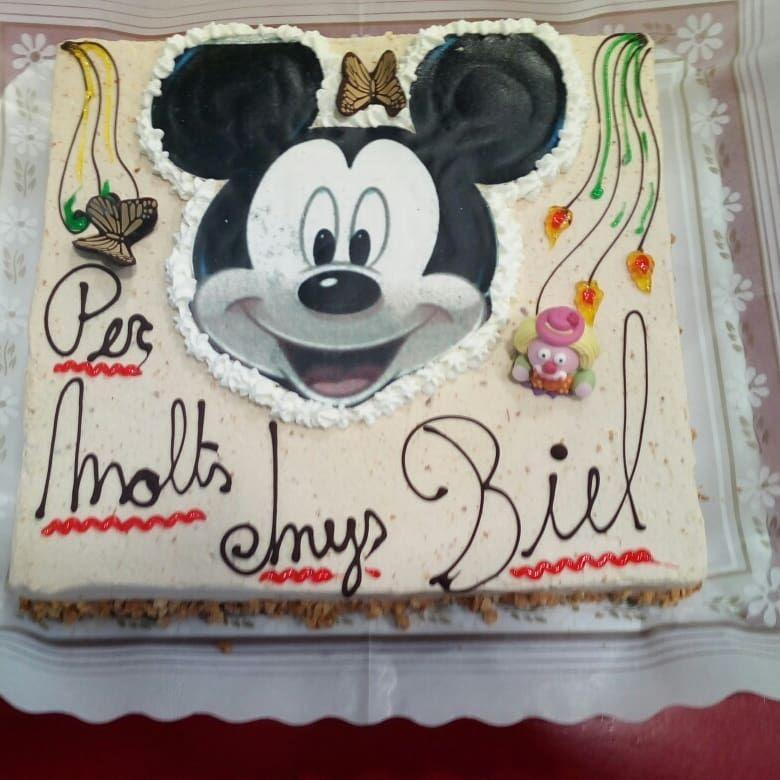 Tarta de cumpleaños Mickey Mouse. Personalizamos tu tarta! Haz tu reserva