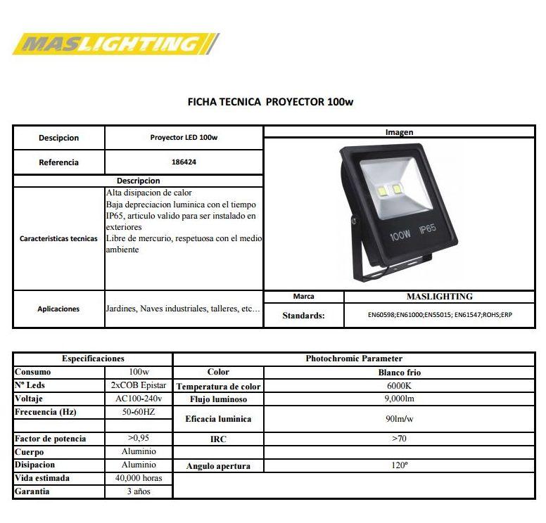Proyector led 100W ip66: Productos de Centro Led Almería