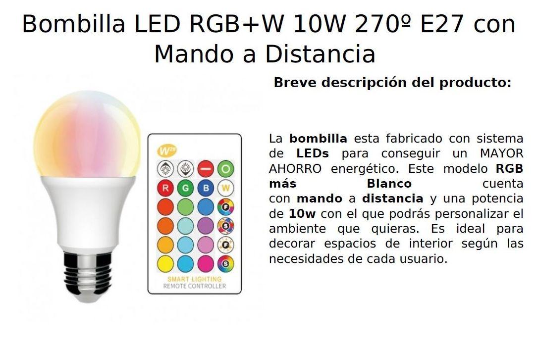 Bombilla RGB + BLANCO: Productos de Centro Led Almería