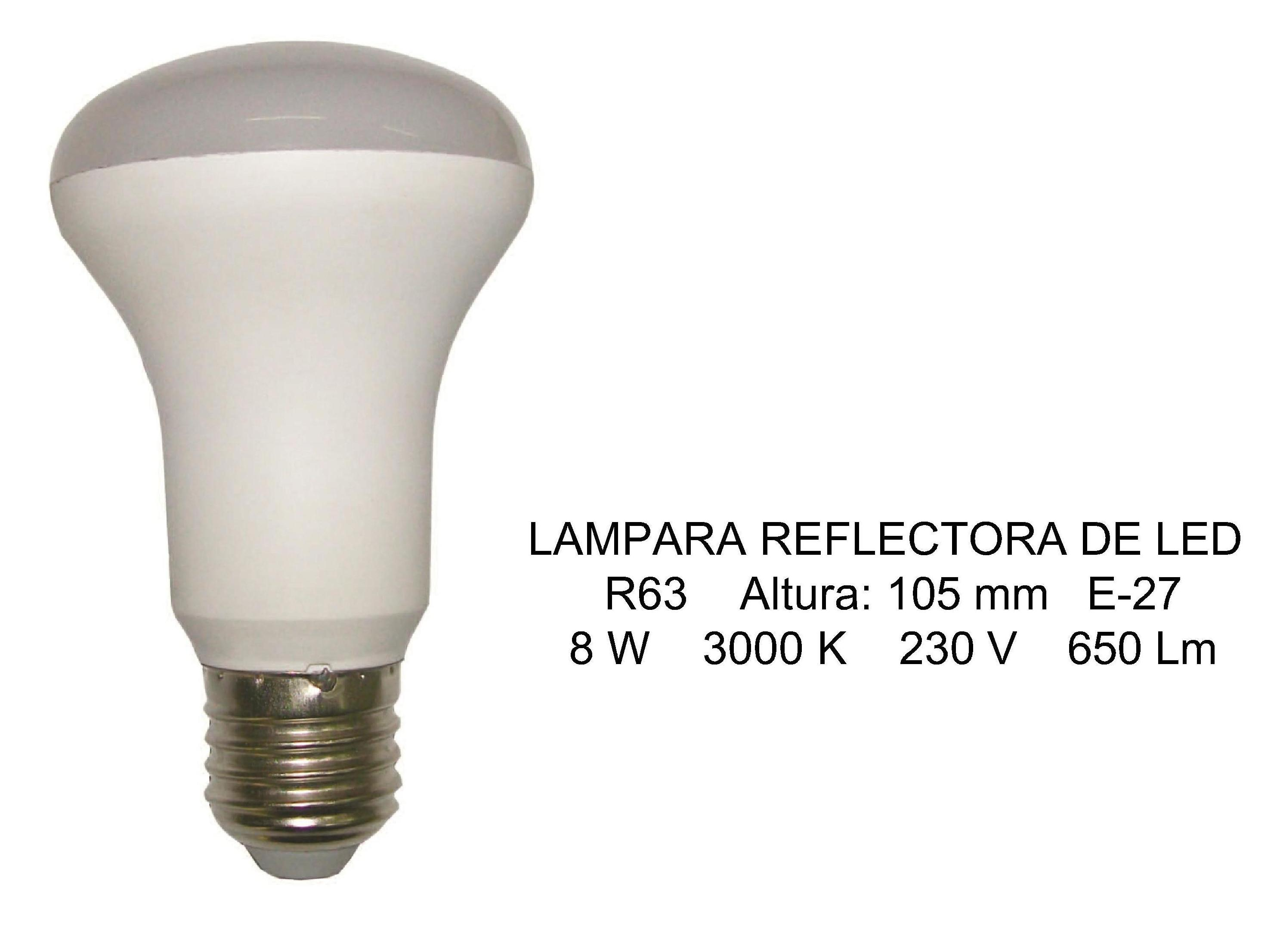 LAMPARA REFLECTORA LED R63 }}