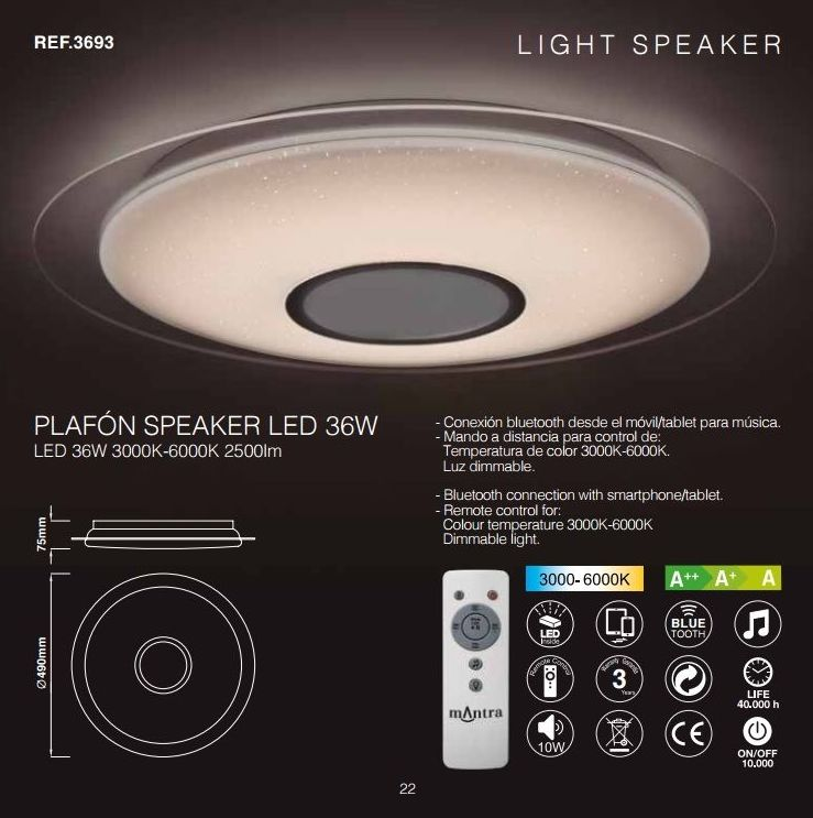 Plafones light speaker: Productos de Centro Led Almería
