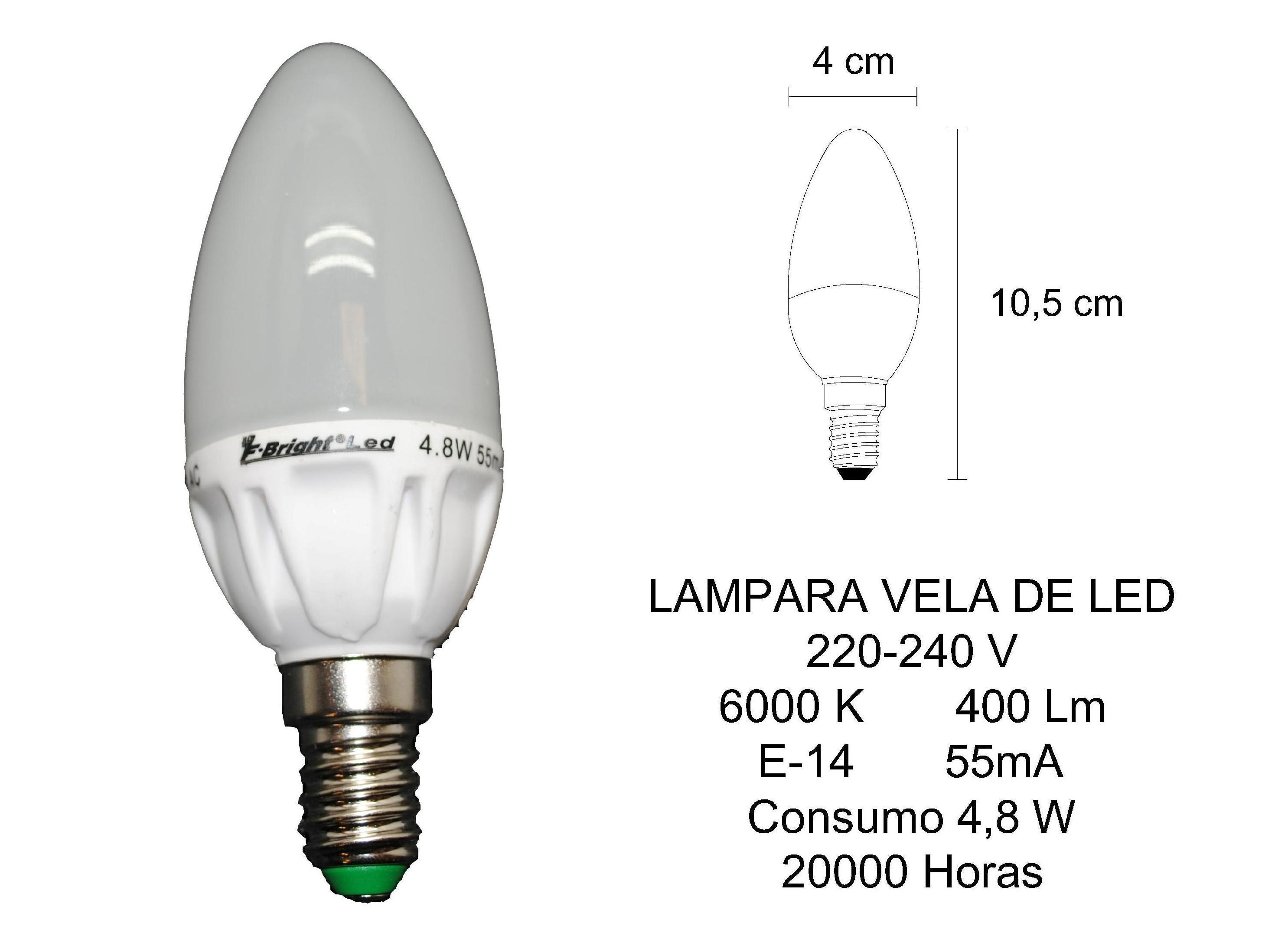LAMPARA VELA DE LED