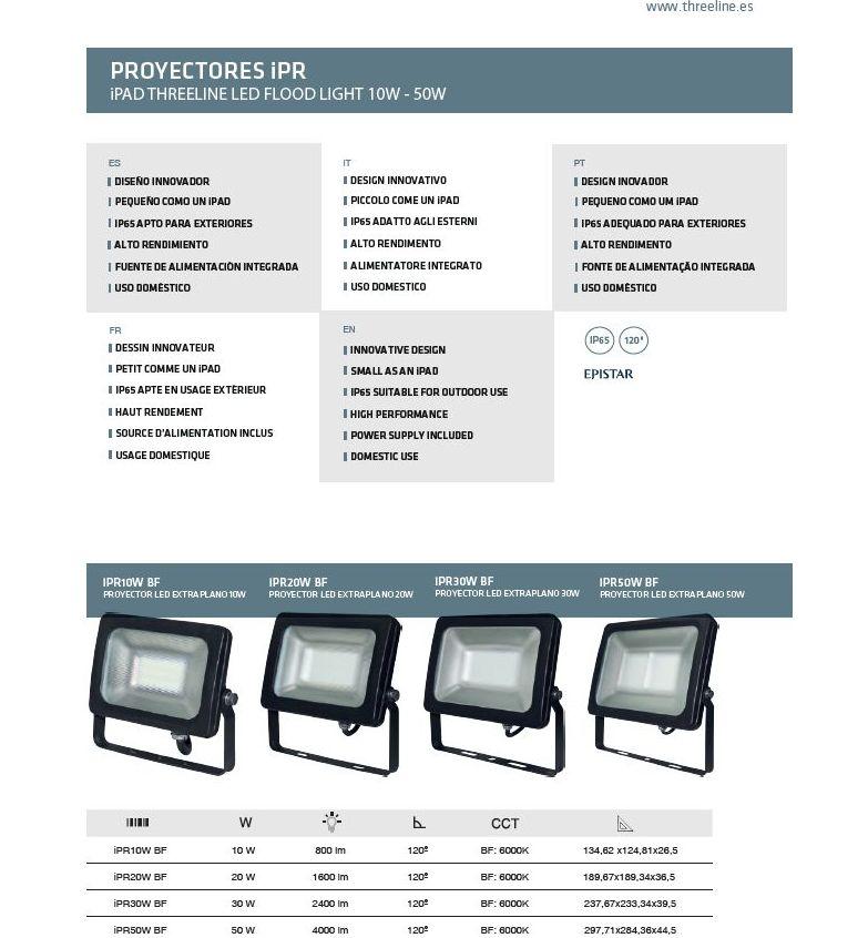 Gama proyectores threeline: Productos de Centro Led Almería