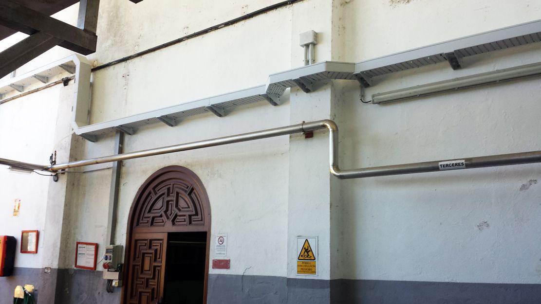 Cableado en cavas de Sant Sadurní