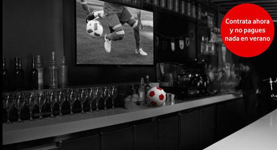 Vodafone apuesta por la TV en los bares