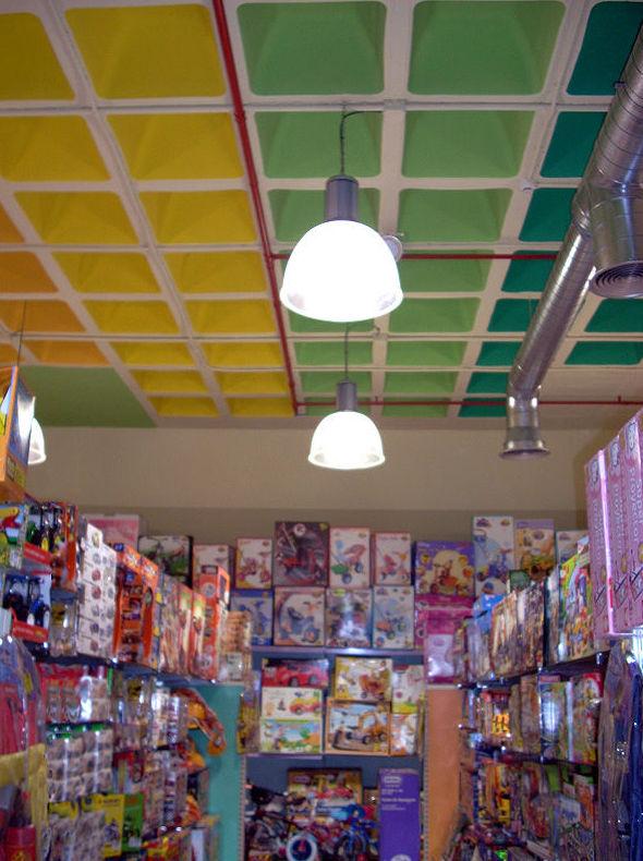 Instalación de luces para tienda