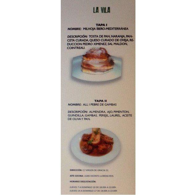 Tapas variadas: Carta y Servicios de La Vila