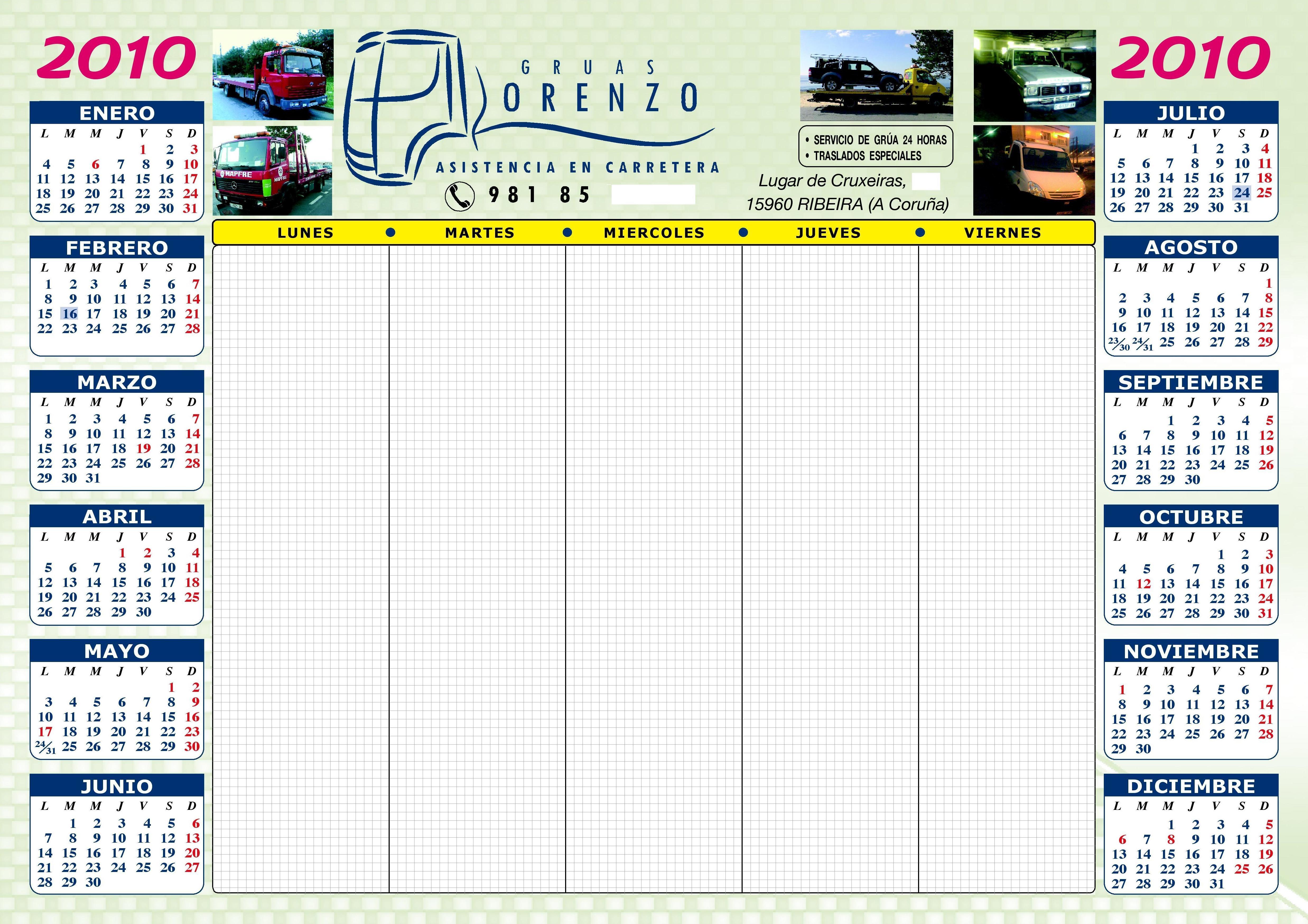 Servicio de realización de calendarios para empresas