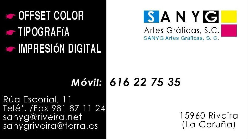 Foto 1 de Artes gráficas en Riveira | Imprenta Sanyg